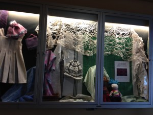 Olympia Weavers Guild display at the Timberland Regional Library, downtown Olympia branch, during November 2014.