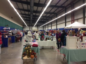 Inside the Exhibit Hall at Elma Fairgrounds