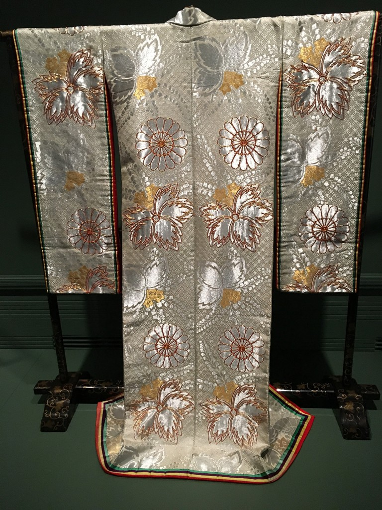 "Silk kimono, part of the Seattle Asian Art Museum exhibit, ""Gold: Japanese Art From the Collection:"